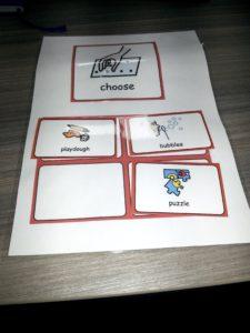 Choosing board being used