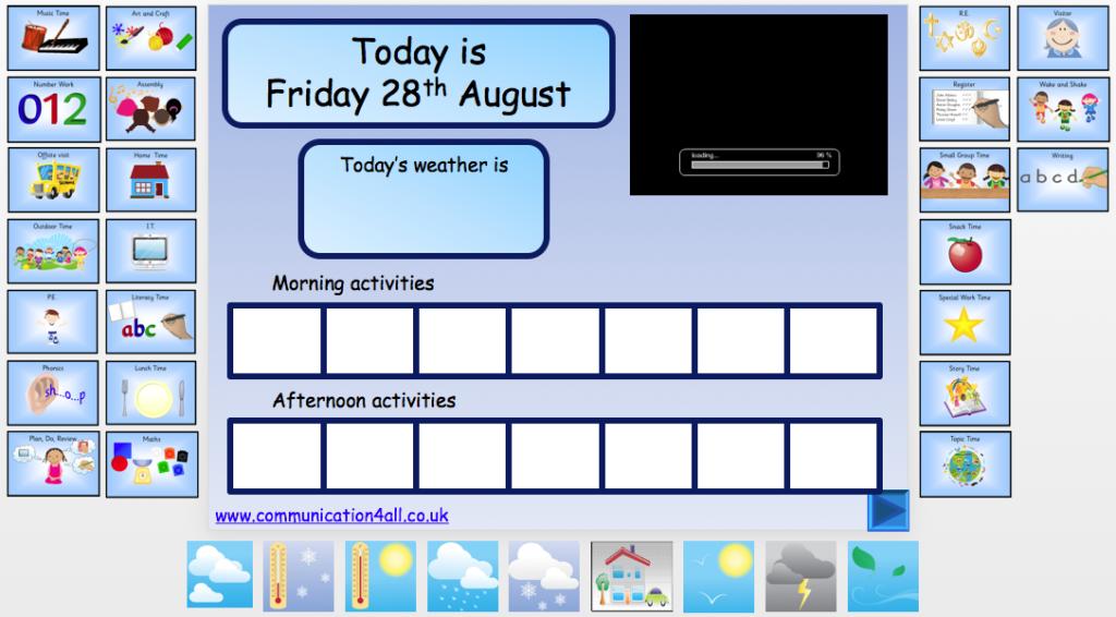 visual timetable 1