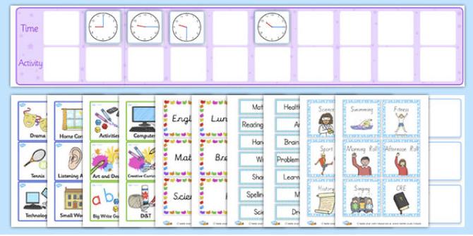 visual timetable 2