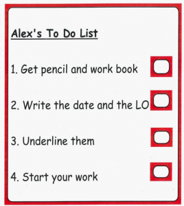 Example to do list