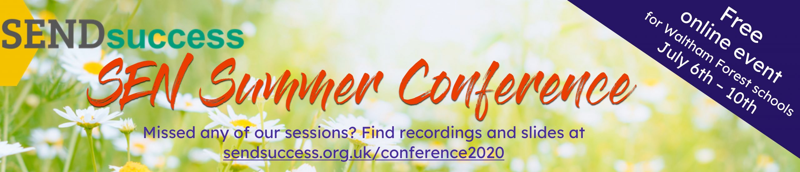 Advert for the SEN Summer conference